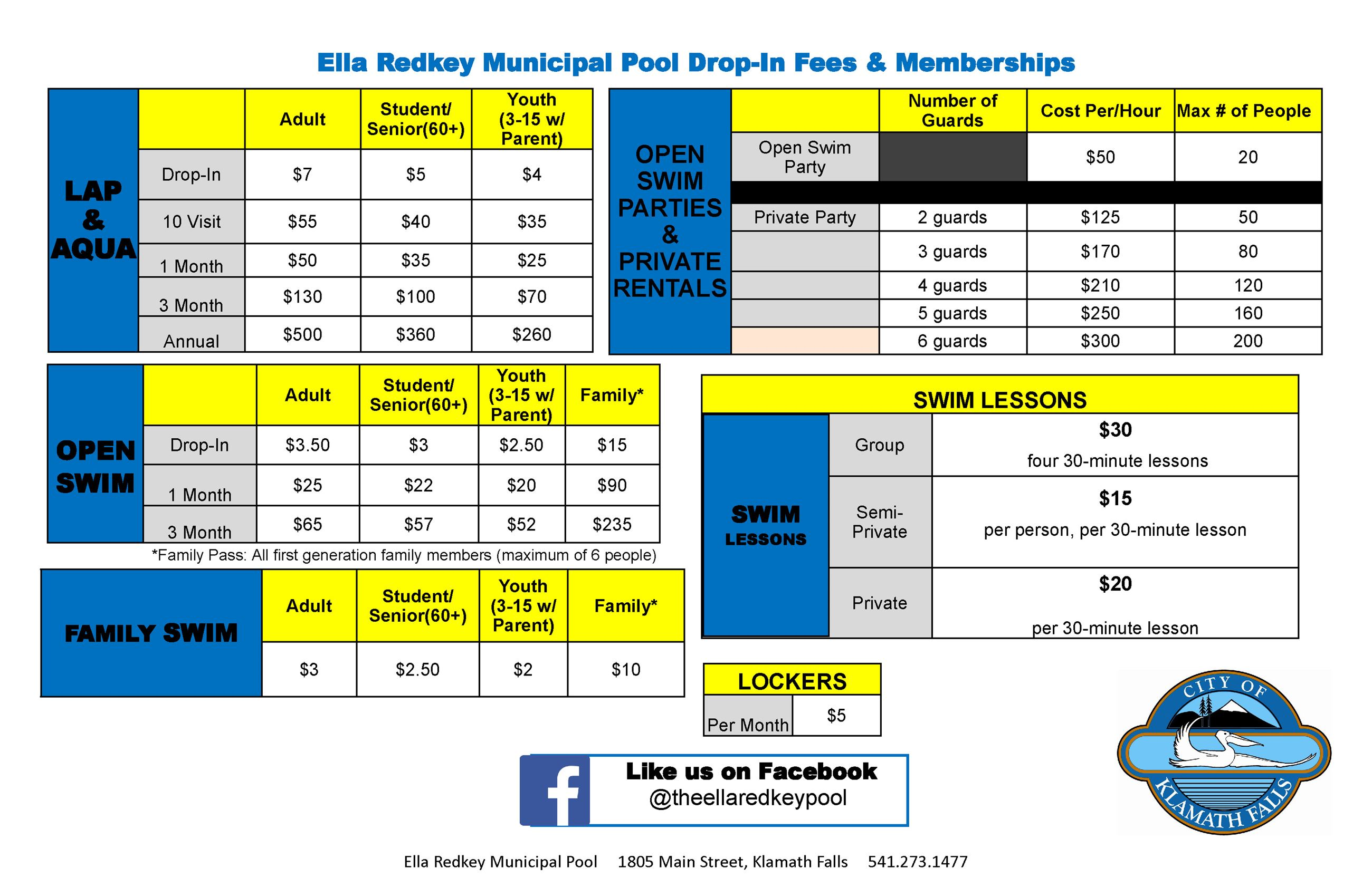 Ella Redkey Pool Schedule and Fees (JPG)