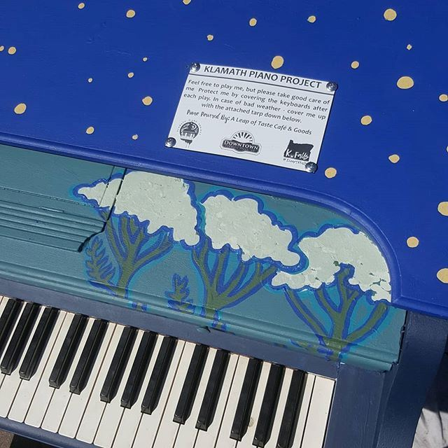 Piano keys and artwork