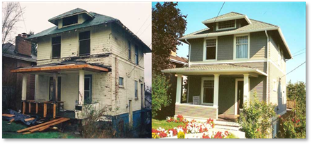before and after housing improvement
