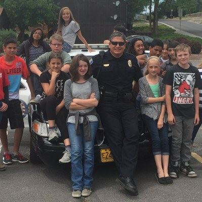 Student Resource Officer with Kids